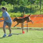 Bridget and Summer at an agility trial